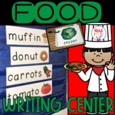 Nutrition Food Pictionary Cards - Vocabulary,  Writing Cen