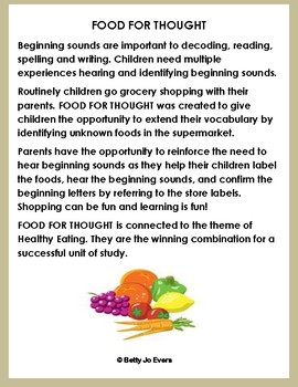 Food For Thought Beginning Sounds