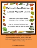 Food Fractions -A Visual Art & Math Lesson -Thanksgiving &