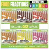 Food Fractions Clip Art Growing BUNDLE!