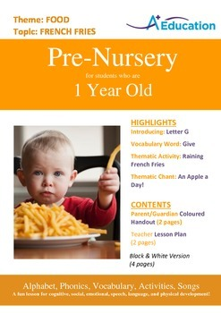 Food - French Fries : Letter G : Goat - Pre-Nursery (1 year old)