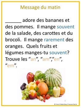 Food French Morning Messages