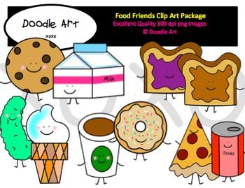 Food Friends Clipart Pack