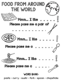 Food From Around the World Worksheet