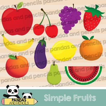 Simple Fruits Clip Art