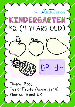 Food - Fruits (I): Blend DR - Kindergarten, K2 (4 years old)