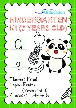 Food - Fruits (I): Letter G - Kindergarten, K1 (3 years old)