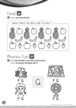 Food - Fruits (III): Letter G - Kindergarten, K1 (3 years old)