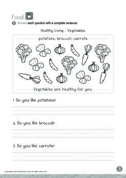 Food - Vegetables (I): Letter Oo - Kindergarten, K3 (age 5)