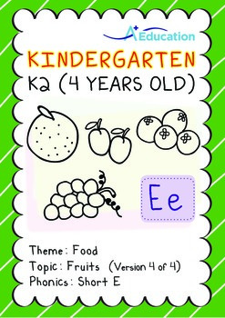 Food - Fruits (IV): Short E - Kindergarten, K2 (4 years old)