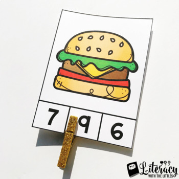 Food Fun Counting Clip Cards {up to 10}
