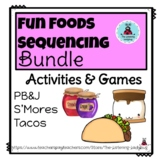 Food Fun Sequencing and recall Activities Bundle