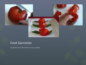 Food Garnishes Power Point/Assignments/Student Notes/Key/Activity