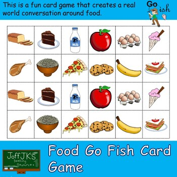 Food Go Fish Card Game By Joffjk S Teacher Resources Tpt