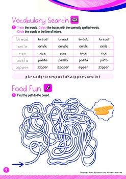 Food - Grains (I): Letters Ss Zz - Kindergarten, K3 (age 5)