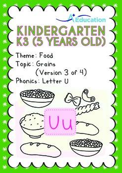 Food - Grains (III): Short and Long Uu - Kindergarten, K3 (age 5)
