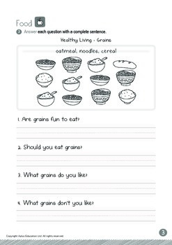 Food - Grains (IV): Short and Long Uu - Kindergarten, K3 (age 5)