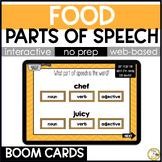 Food Grammar BOOM CARDS: Parts of Speech