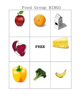 Food Group BINGO