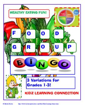 MyPlate Food Group Bingo Bundle