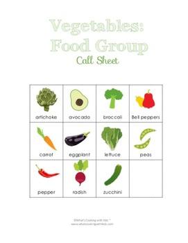 Food Group Bingo - Nutrition Education