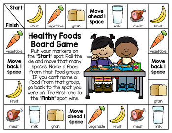 Food Group Board Game