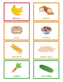 Food Group Cards
