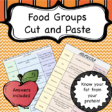 Food Group Cut and Paste