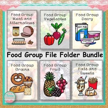 Food Group File Folder Bundle