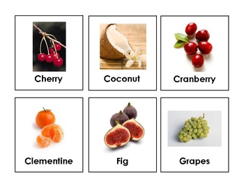 Food Group Flash Cards