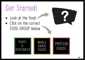 Boom Cards: Food Group Multiple Choice