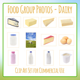Food Group Photos - Dairy - Photograph Clip Art Set for Commercial Use