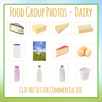 Food Group Photos - Dairy - Photograph Clip Art Set for Co
