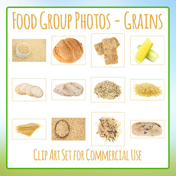 Food Group Photos - Grains - Photograph Clip Art Set for Commercial Use