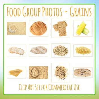 Food Group Photos - Grains - Photograph Clip Art Set for Commercial Use