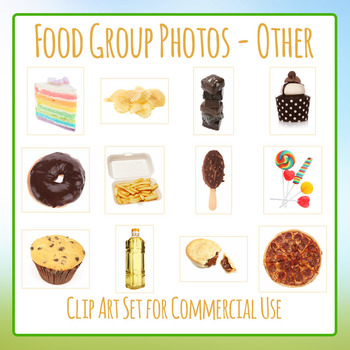 Food Group Photos - Other / Occasional - Photograph Clip Art Set Commercial Use