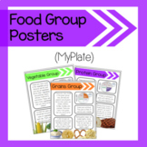Food Group Posters (MyPlate Nutrition)