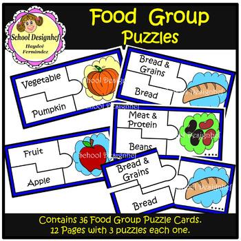 Food Group Puzzles (School Designhcf)