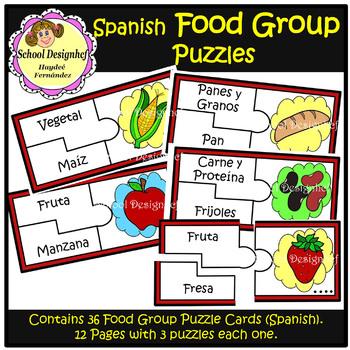 Food Group Puzzles - Spanish (School Designhcf)