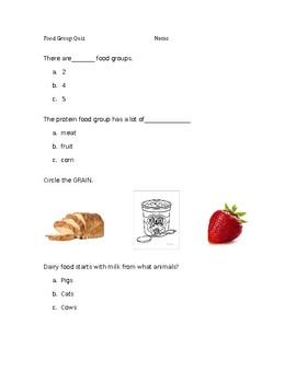 Food Group Quiz