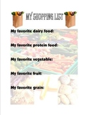 Food Group Shopping List