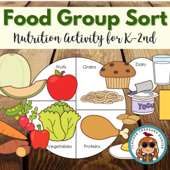 Food Group Sort - MY PLATE - Health - cards & worksheets