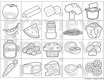 food group sort my plate health cards worksheets tpt. Black Bedroom Furniture Sets. Home Design Ideas