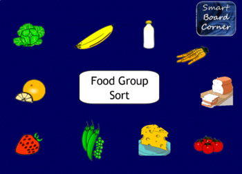 Food Group Sort SMART Board Lesson