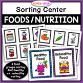 Food Group Sorting AND Healthy vs. Unhealthy Food Sorting