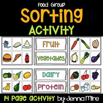 Food Group Sorting Cards