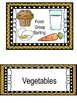 Food Group Sorting Game and worksheets
