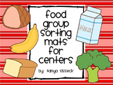 Food Group Sorting Mats for Healthy Eating Science Centers