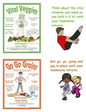 Food Group Super Heroes Fitness Relay and Posters