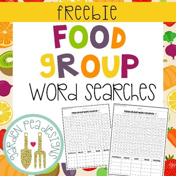 Food Group Word Search